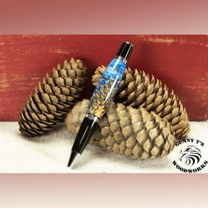 Pine Cone in Blue Resin